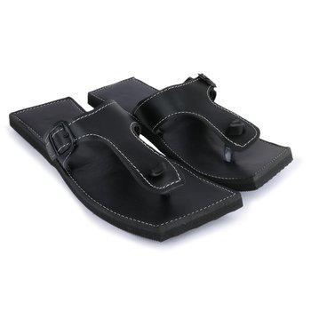 Handmade black Synthetic Leather sandals for men, Indian Flip flops, gift for husband