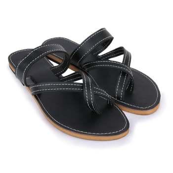Slide Sandals Women Boho, Black Sandals Bohemian Make Cute Summer Shoes Gift For Her. Ancient Indian Sandals
