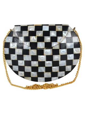 Black and White Marvelous Marble Clutch