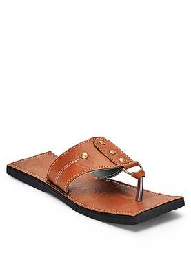 Indian Synthetic Leather Sandals for Men, summer flats shoes
