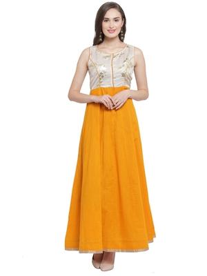 Mustard Kalidar Maxi Dress