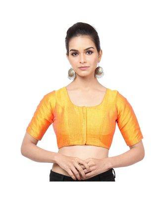 Mustard Mulberry Padded Designer Ready Made Saree Blouse