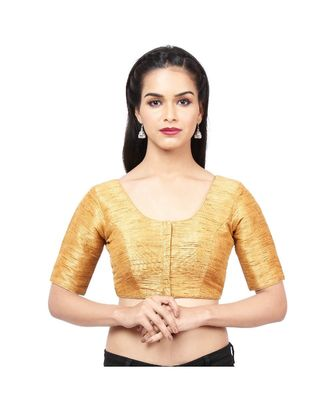 Dark-golden Mulberry  Padded designer ready made saree blouse