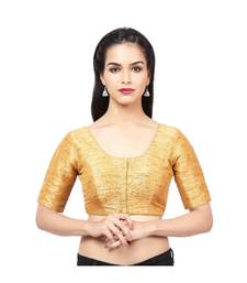 Dark-golden Mulberry  Padded designer ready made saree blouse