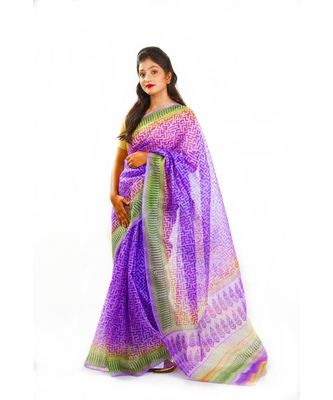Lilies and Lavendar Wrap in 1 Minute Saree