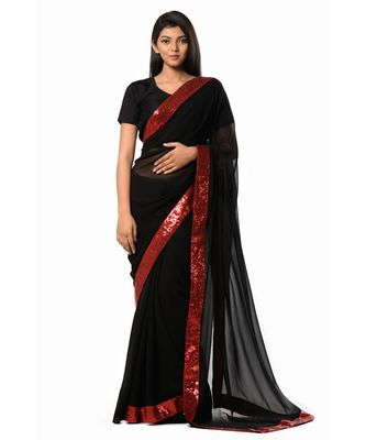 Don't turn your back on me Black Magic woman Wrap in 1 Minute Saree