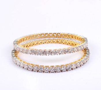 Gorgeous Single Line bangles with beautiful stones
