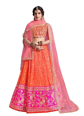 Orange embroidered