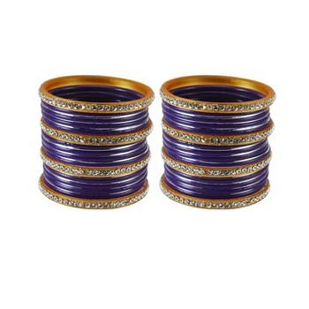 Purple crystal bangles-and-bracelets