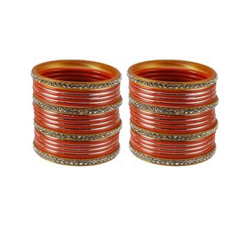 Orange crystal bangles-and-bracelets