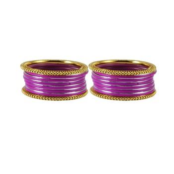 Magenta crystal bangles-and-bracelets