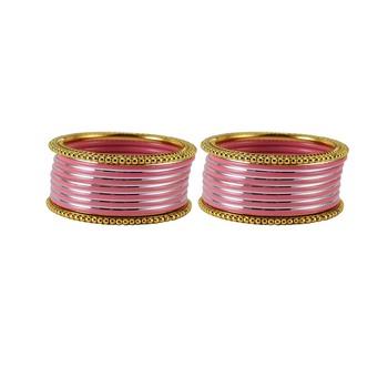 Peach crystal bangles-and-bracelets