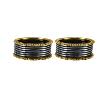 Black crystal bangles-and-bracelets