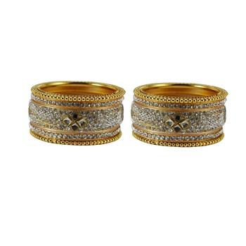 Golden crystal bangles-and-bracelets