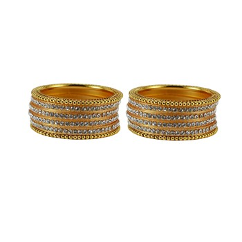 Golden crystal bangles-and-bracelets