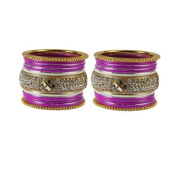 Magenta Crystal Bangles And Bracelets