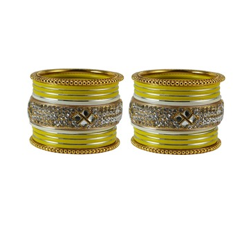 Yellow crystal bangles-and-bracelets