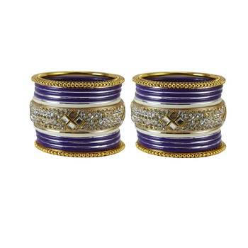Purple crystal bangles-and-bracelets