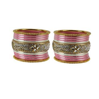 Peach Crystal Bangles And Bracelets