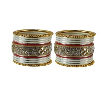 Cream crystal bangles-and-bracelets