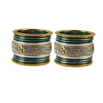 Green Crystal Bangles And Bracelets