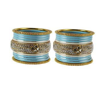 Turquoise crystal bangles-and-bracelets