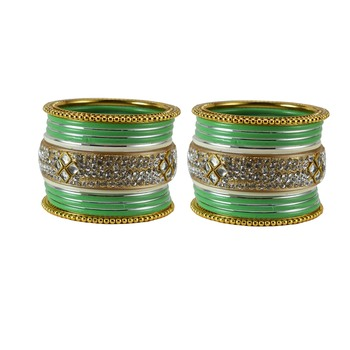 Green crystal bangles-and-bracelets