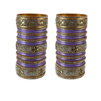Purple Crystal Bangles And Bracelets