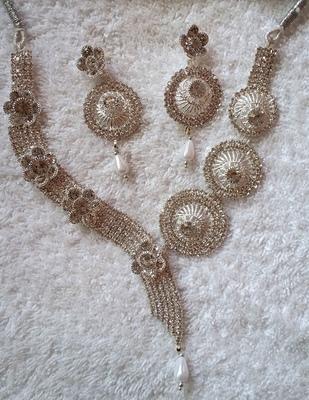 White cubic zirconia designer-jewellery