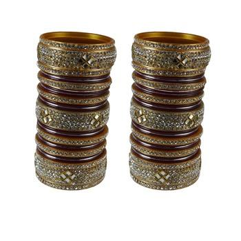 Maroon crystal bangles-and-bracelets