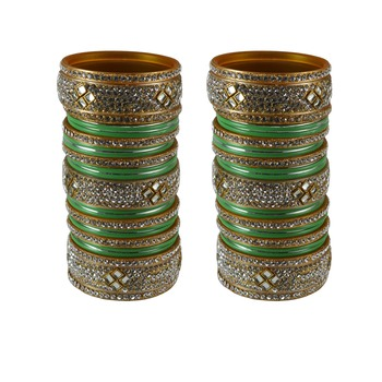 Green crystal bangles-and-bracelets