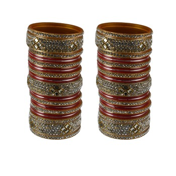Red crystal bangles-and-bracelets