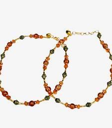Exotic Design Flattering Orange Brass Payal Anklet