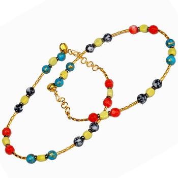 Fancy Designer Stylish Colorful Brass Payal Anklet
