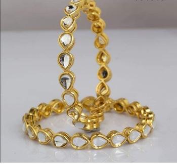 Gold kundan bangles-and-bracelets