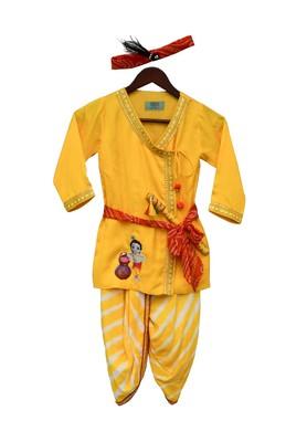 Yellow Krishna Dhoti Set