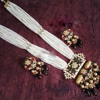 Designer Gold kundan necklace-sets