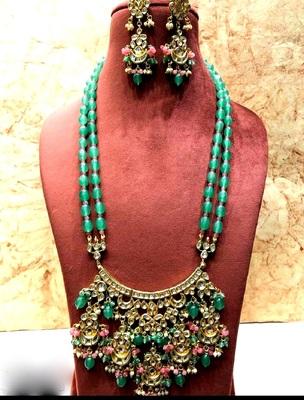 Wedding kundan  Green necklace-sets Women