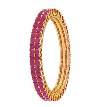 Pink agate bangles-and-bracelets