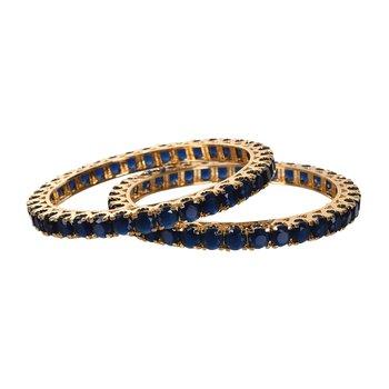 Gold agate blue  bangles-and-bracelets