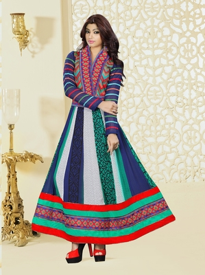 Multicolor embroidered georgette salwar