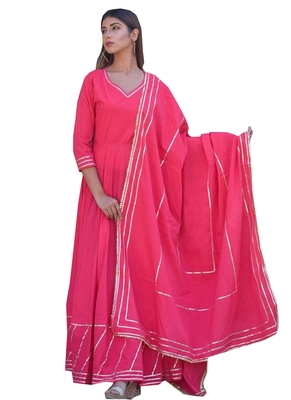 Pink fancy georgette salwar