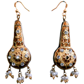Ethnic Design Lacquer Earrings Fashion Jewellery