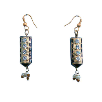 Rajasthani Design Maroon Fashion Jewellry Earrings