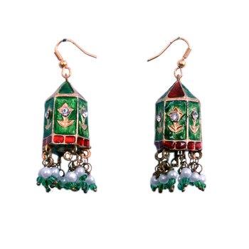 Multi Color Jaipuri Big Bali Style Fashion Earring