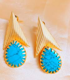 Turquoise Agate Danglers Drops