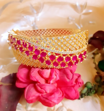 Pink Cubic Zirconia Bangles And Bracelets