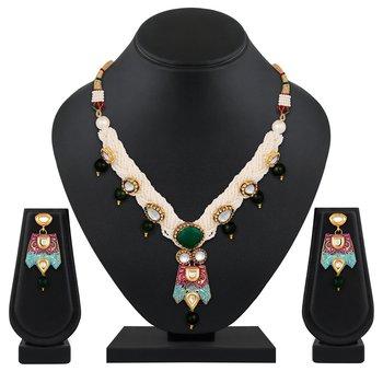 Stylish Designer princess style Gold Plated Kundan Necklace set for women