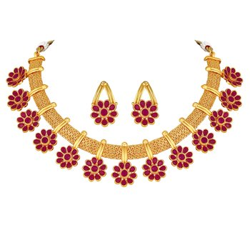 Wedding wear Gold Plated Choker style Necklace Set for women