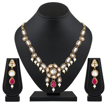 Alluring princess style Designer Gold plated Necklace set for women